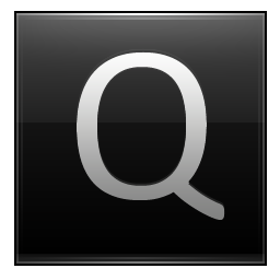 Letter Q black icon