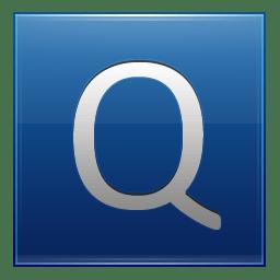 Letter Q blue icon