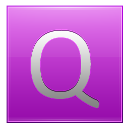 Letter Q pink icon