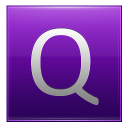 Letter Q violet icon