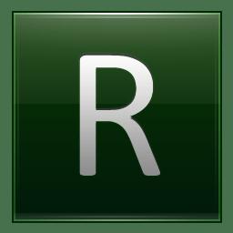 Letter R dg icon