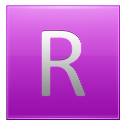 Letter R pink icon