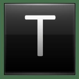 Letter T black icon