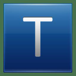 Letter T blue icon
