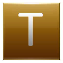 Letter T gold icon