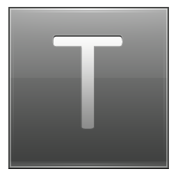 Letter T grey icon