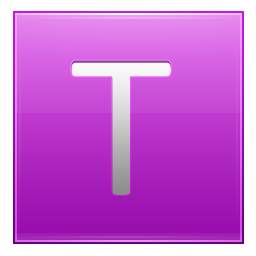 Letter T pink icon