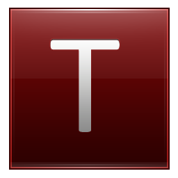 Letter T red icon