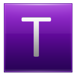 Letter T violet icon