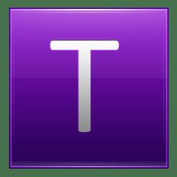 Letter T violet icon