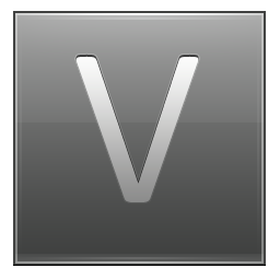 Letter V grey icon