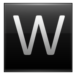 Letter W Black Icon Multipurpose Alphabet Iconset Supratim Nayak
