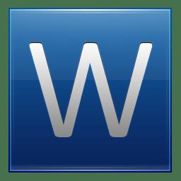 Letter W blue icon