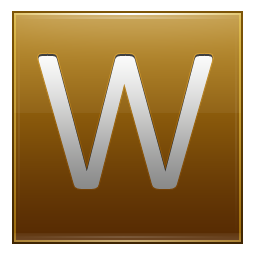 Letter W gold icon