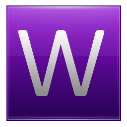 Letter W violet icon