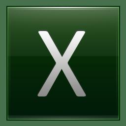 Letter X dg icon