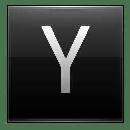 Letter Y black icon