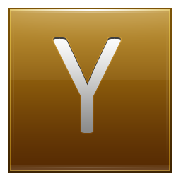y letter in gold - photo #25