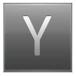 Letter Y grey icon
