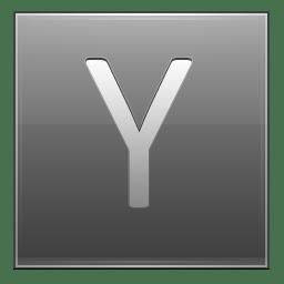 Letter Y grey icon