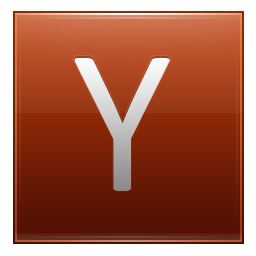 Letter Y orange icon