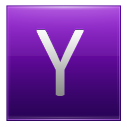 Letter Y violet icon