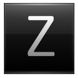 Letter Z Black Icon Multipurpose Alphabet Iconset Supratim Nayak