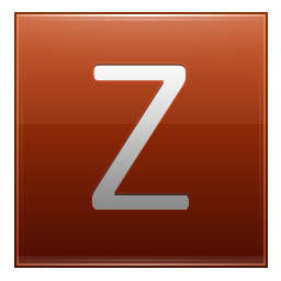 Letter Z orange icon