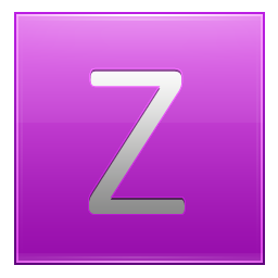 Letter Z pink icon