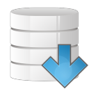 database arrow down icon
