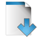 document arrow down icon