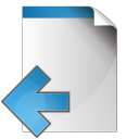 Document-arrow-left icon