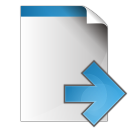 Document-arrow-right icon