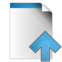 document arrow up icon