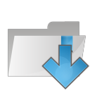 Folder arrow down icon