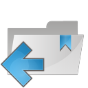 folder arrow left icon