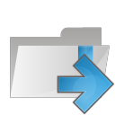 folder arrow right icon
