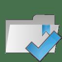 Folder check icon