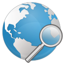 Globe-search icon