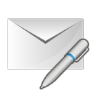 Mail write pen icon