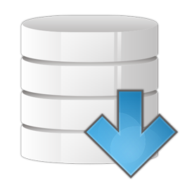 Database arrow down icon