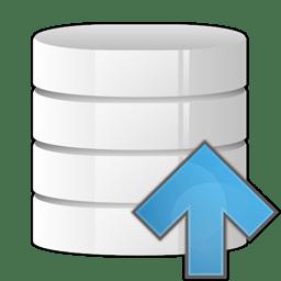 database arrow up icon