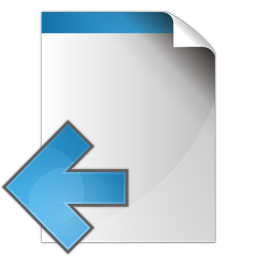 document arrow left icon