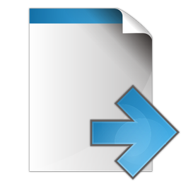 Document arrow right icon