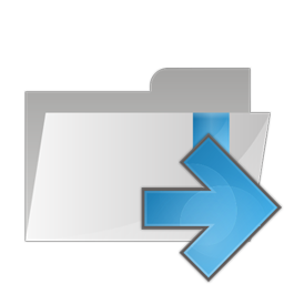 Folder arrow right icon