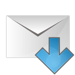 mail arrow down icon