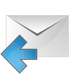 mail arrow left icon