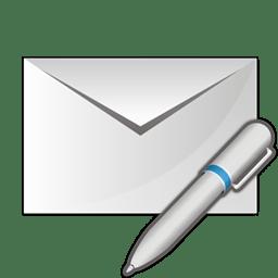 Mail write pen icon