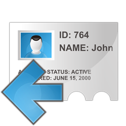 Profile arrow left icon