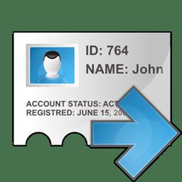 Profile arrow right icon